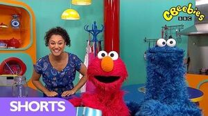 Elmo and Cookie Monster From The Furchester Hotel Visit The CBeebies House