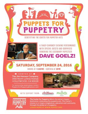 Puppets for Puppetry 2016 flyer