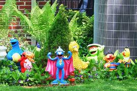 Sesame lawn ornaments