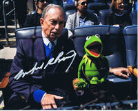 Michael bloomberg kermit yankees stadium