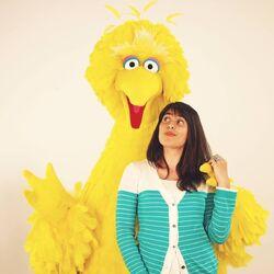 Sarah Rebar with Big Bird