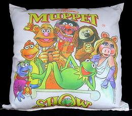 D & m satin throw pillow muppet show