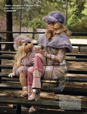 Love magazine Piggy and Doutzen Kroes