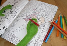 Kermit coloring book