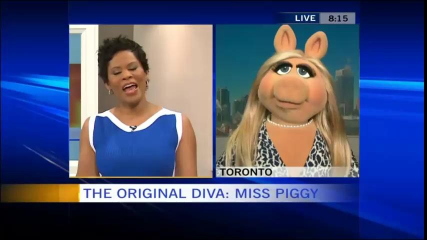 Miss Piggy on Canada AM March 18 2014