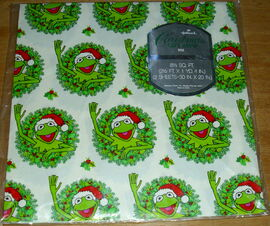 Hallmark wrapping paper kermit