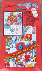 Lee publications 1994 muppet babies jumbled picture puzzles sticker set 1