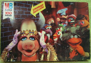 Milton bradley puzzle 1980 muppet auditions
