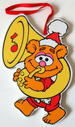 Kurt adler flat muppet babies christmas ornament fozzie