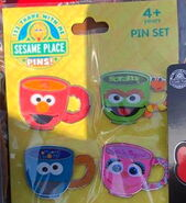 Sesame place pins mug set 2019