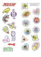 CTW Sesame Street Feeling Fit Postcards To Color And Send Stickers