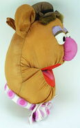 Play by play muppets inc 1997 fozzie face plush nylon 2