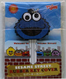 Sanrio rubber key cover cookie monster
