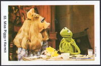 Sweden swap gum cards 53 miss piggy kermit