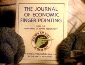 Economic finger pointing