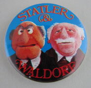 Muppet show button pin badge uk statler and waldorf