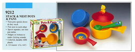 Illco 1992 preschool toys stack & nest pots & pans
