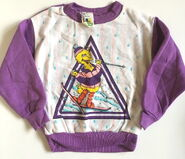 Jc penney sweatshirt purple skiing