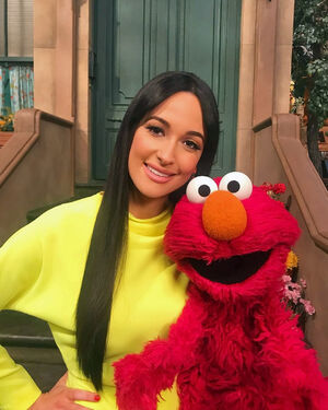 Kacey Musgraves and Elmo