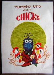 Caron 1980 crewel kit gonzo numero uno with chicks 2