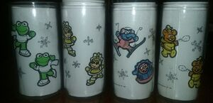 MuppetBabies1989JellyJarGlasses