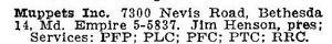 Muppetsinc-1963listing