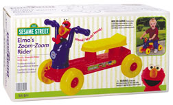 Processed plastic company pp 2003 elmo's zoom-zoom rider ride-on toy 2
