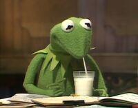 Kermit drinks
