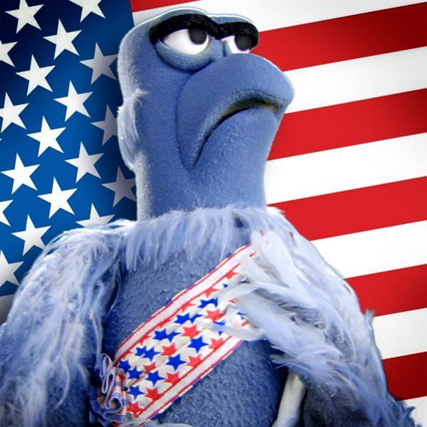Image result for blue bird muppet