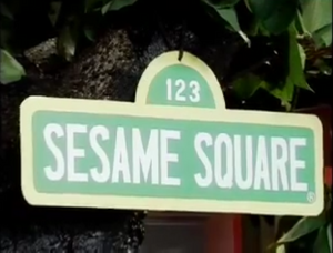 Sesame Square Sign