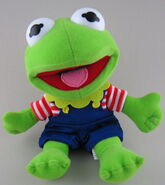 Toy play beanbag baby kermit