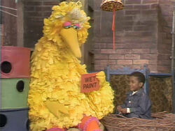Big Bird Scottie wet paint
