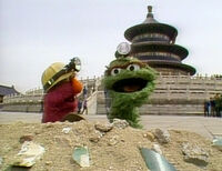 Oscar and Telly in Big Bird in China