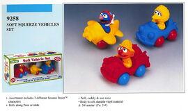 Illco 1992 baby toys soft vehicle set