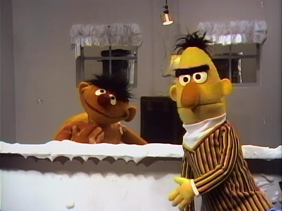 Ernie And Bert Sketches Apartment