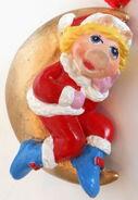 Presents 1990 miss piggy christmas ornament moon santa 1