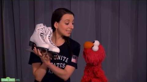 Sesame Street Elmo and Team USA Gold Medalist Sarah Hughes Discuss Persistence