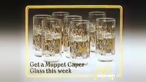 McDonalds Caper glasses commercial