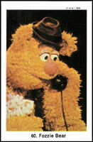 Sweden swap gum cards 60 fozzie bear