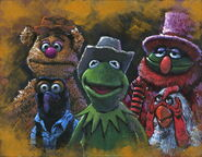 Giclee kermit and the boys by rodel gonzalez 2016 14x18