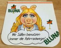 Bluna orange soda 1981 german stickers 3