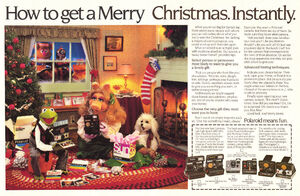 Polaroid magazine ad Christmas 1981