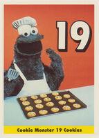 Sesamecard 020 Cookie Monster cookies