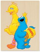 Stampabilities cookie time with big bird n cookie monster