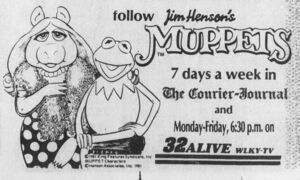 Muppets strip 1982 Courier Journal ad