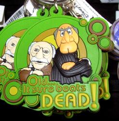 Disneyland statler waldorf keychain