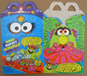 Mcdonalds 1994 muppet workshop happy meal box premium 1