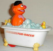 Illco die-cast car 1988 ernie's tub racer press n go