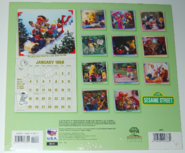 Sesame street calendar 1998 back