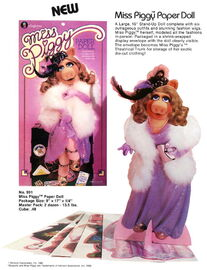 1981 colorforms piggy paper doll